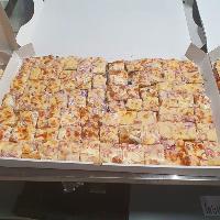 Les pizzas en plaques